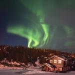 Nordlys over Kvitfjell den 20. december 2015
